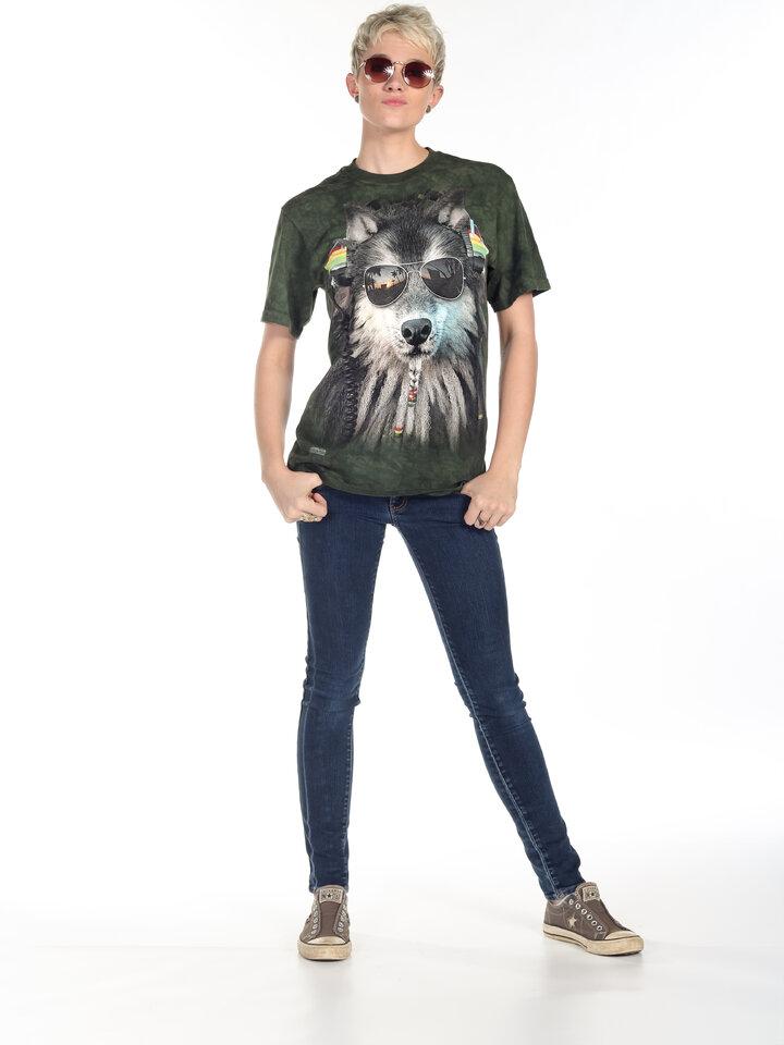 für ein vollkommenes und originelles Outfit T-Shirt Rasta Wolf