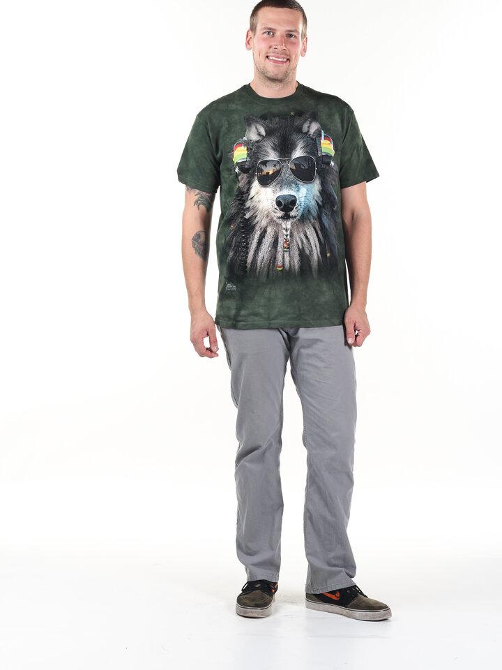 Suchen Sie ein originelles und außergewöhliches Geschenk? überrascht den Beschenkten sicher T-Shirt Rasta Wolf