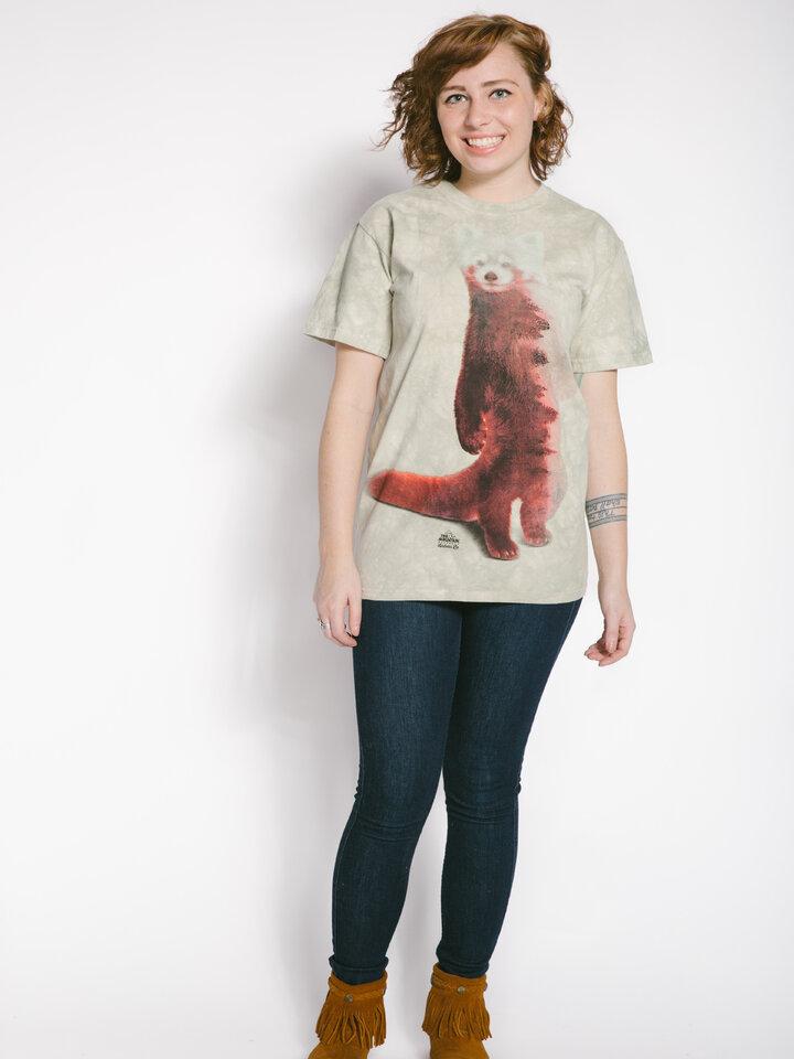für ein vollkommenes und originelles Outfit T-Shirt Roter Panda und Wald