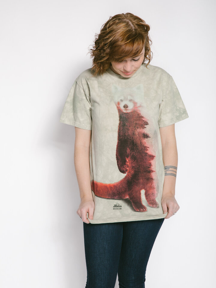 Reducerea Tricou Red Panda Forest