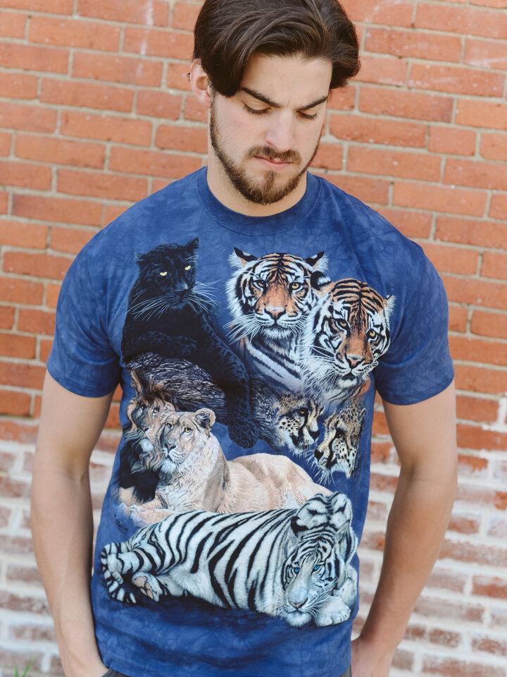 Eredeti ajándék a Dedolestől Nagymacskák kollázs póló