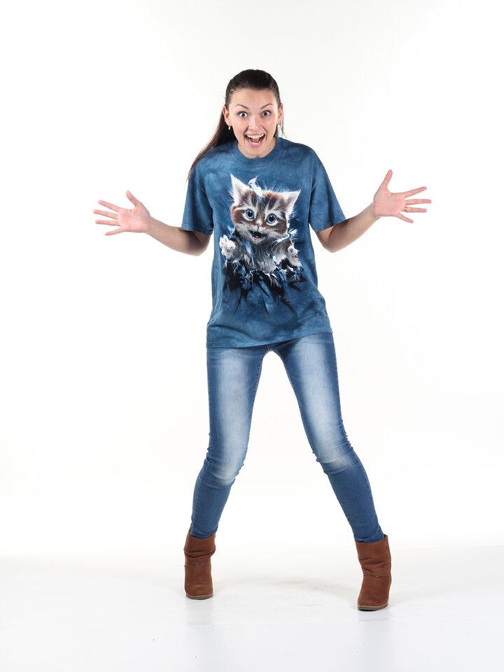 Sleva Tričko 3D Zrzavá kočička