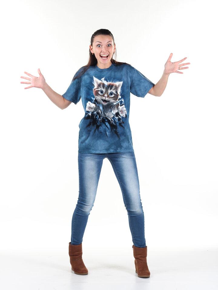 Foto Tričko 3D Zrzavá kočička