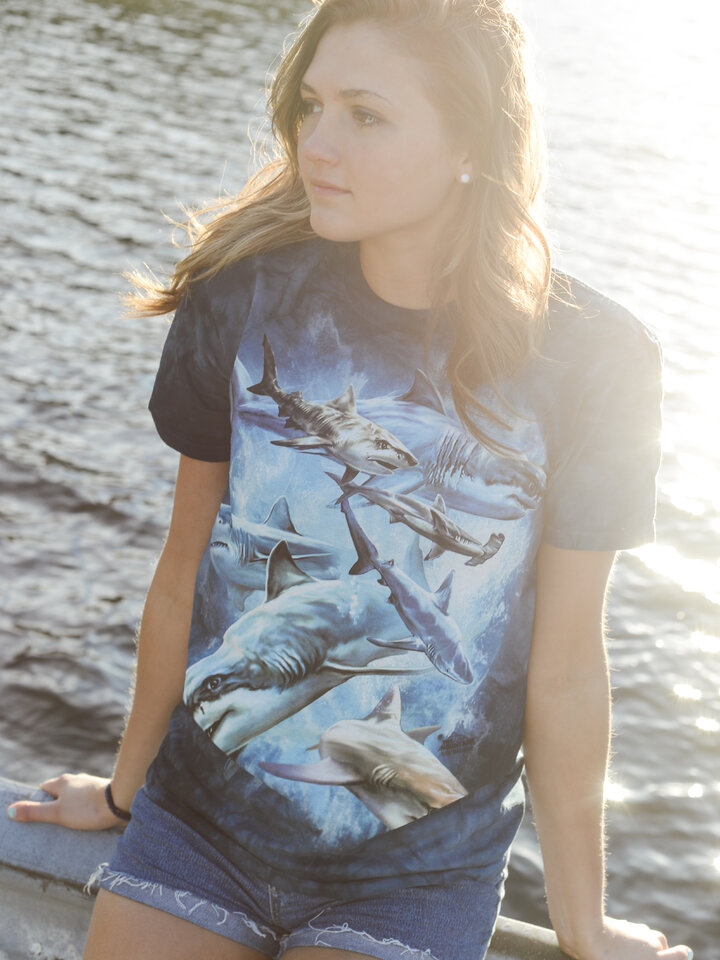 Sleva Tričko Koláž žraloků