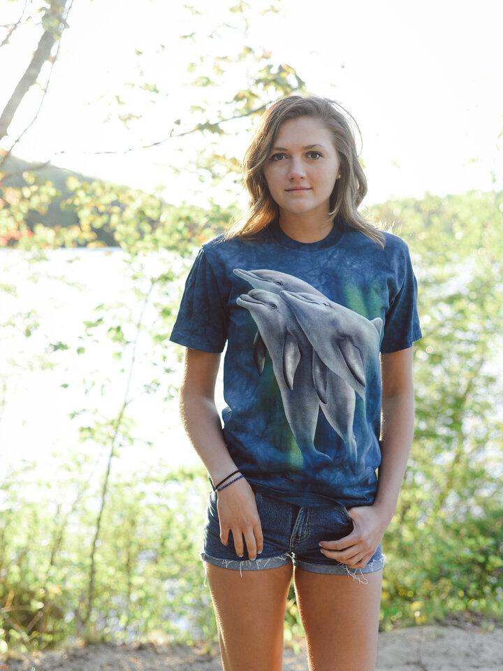 Foto T-Shirt Drei Delphine