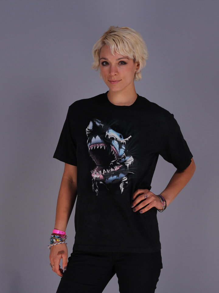 Foto T-Shirt Wütender Haifisch