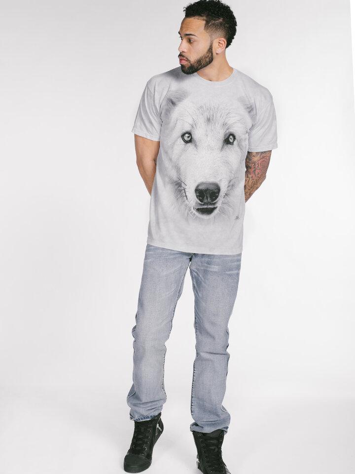 Ausverkauf T-Shirt Weisser Wolf