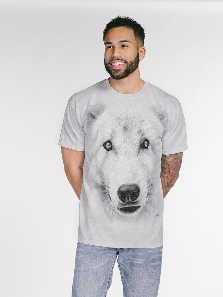 Suchen Sie ein originelles und außergewöhliches Geschenk? überrascht den Beschenkten sicher T-Shirt Weisser Wolf
