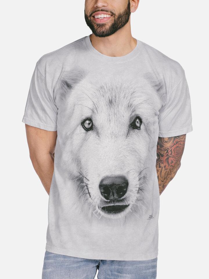 Rabatt T-Shirt Weisser Wolf