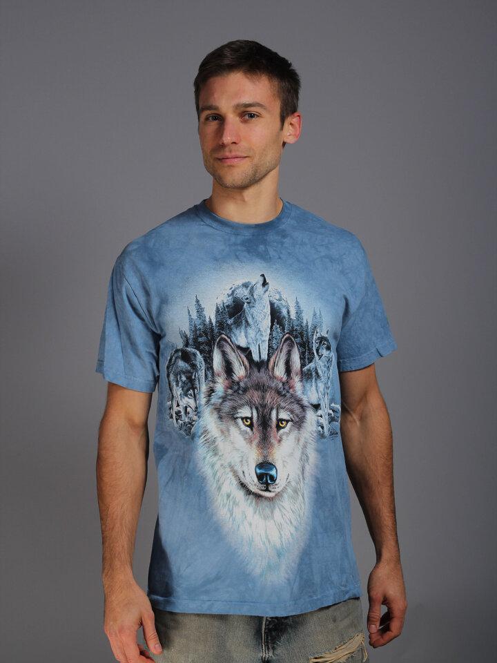 Tip na darček Tričko Modré vlky a mesiac
