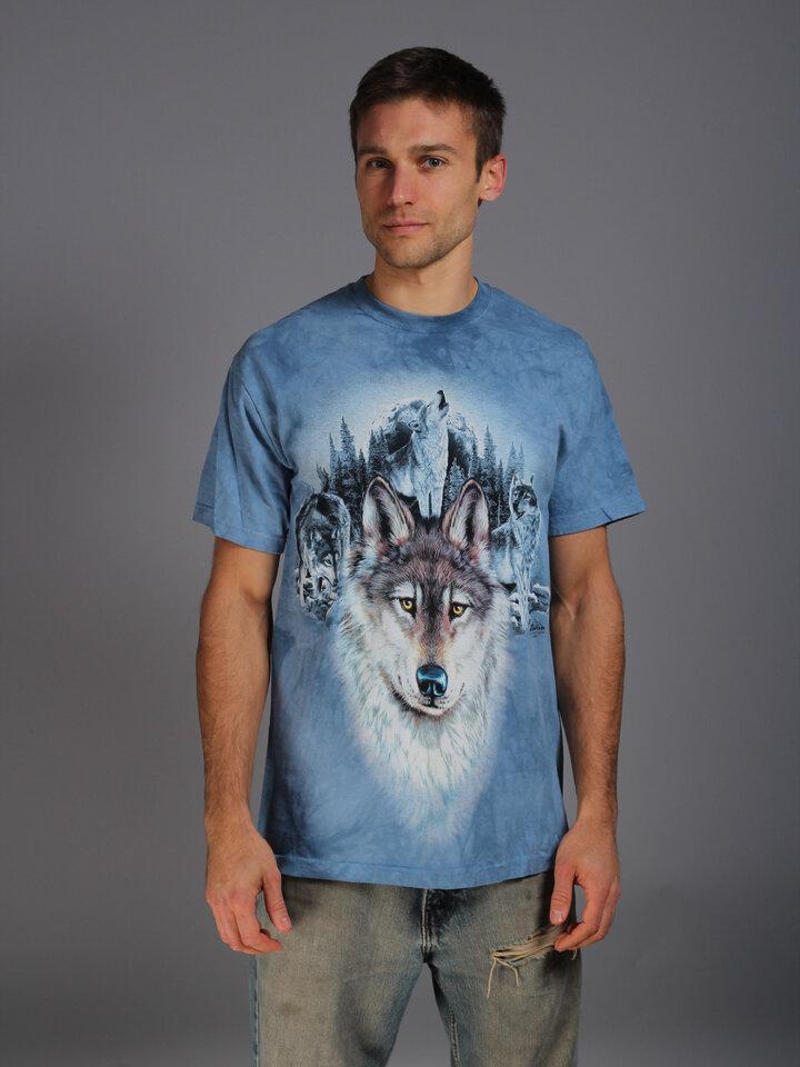Pre dokonalý a originálny outfit Tričko Modré vlky a mesiac