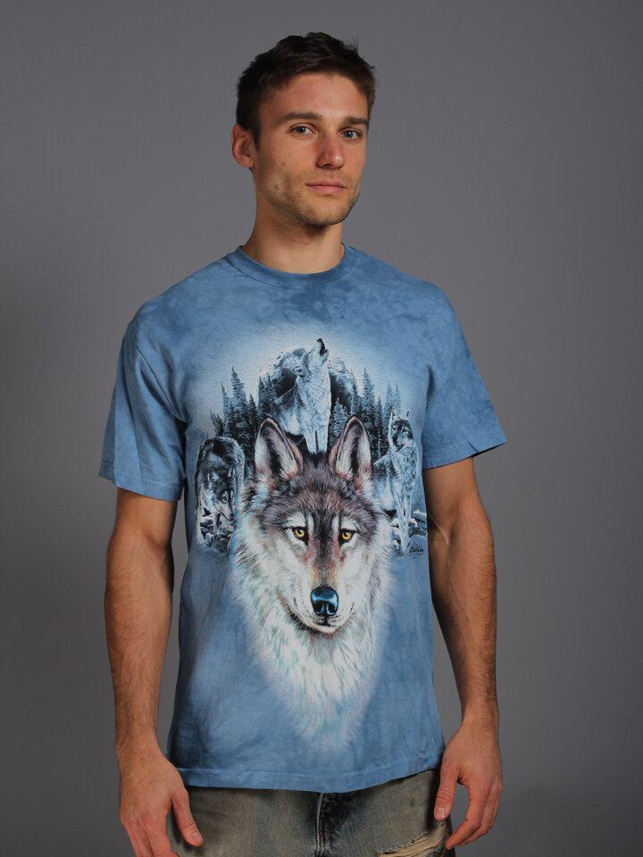 Výnimočný darček od Dedoles Tričko Modré vlky a mesiac