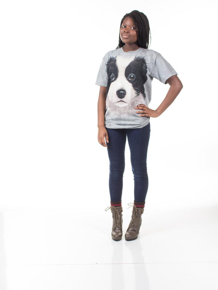 a tökéletes és egyedi ruházathoz Border kólia kölyökkutya póló