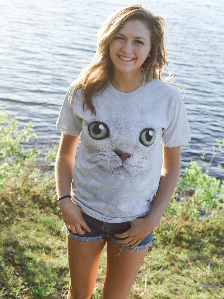 Foto Tričko Kočka se zelenýma očima