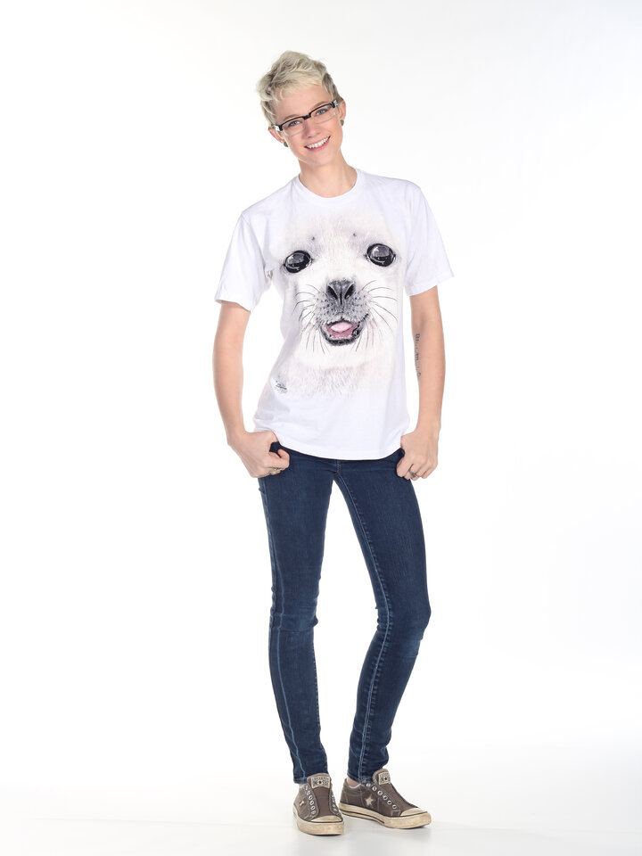 Lifestyle-Foto T-Shirt Seehund Kind