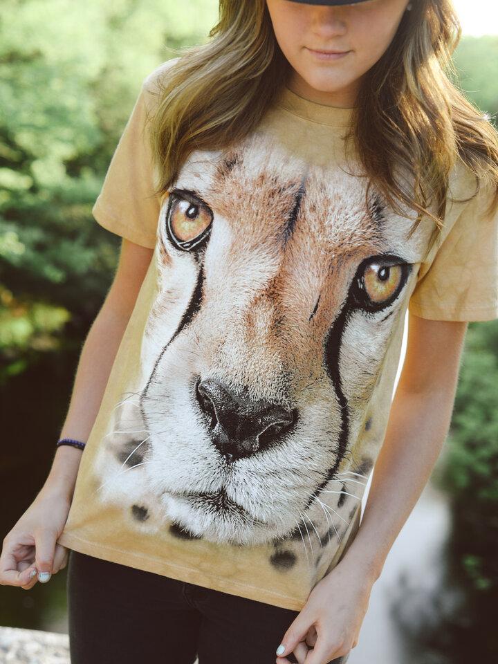 Lifestyle foto Tričko Tvár geparda