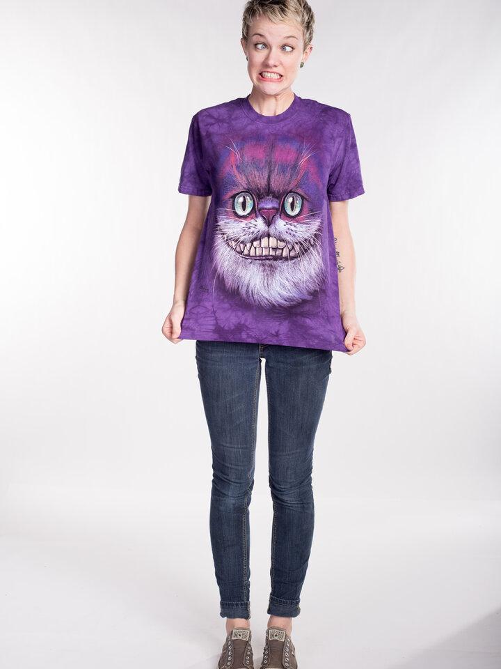 Pre dokonalý a originálny outfit Tričko Mačka Škľabka z Alice v krajine zázrakov