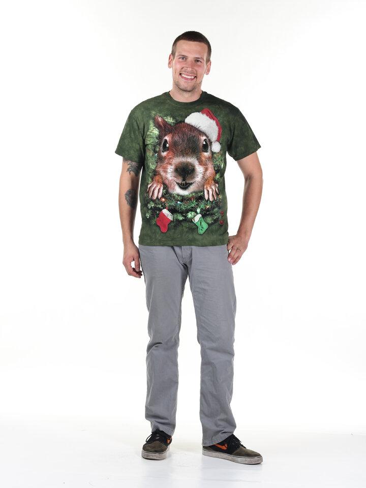 Tip na dárek Tričko Vánoční veverka