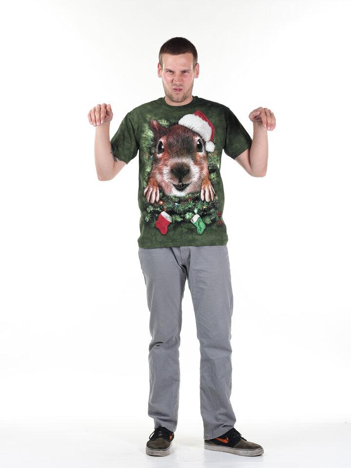 Hledáte originální a neobvyklý dárek? Obdarovaného zaručeně překvapí Tričko Vánoční veverka