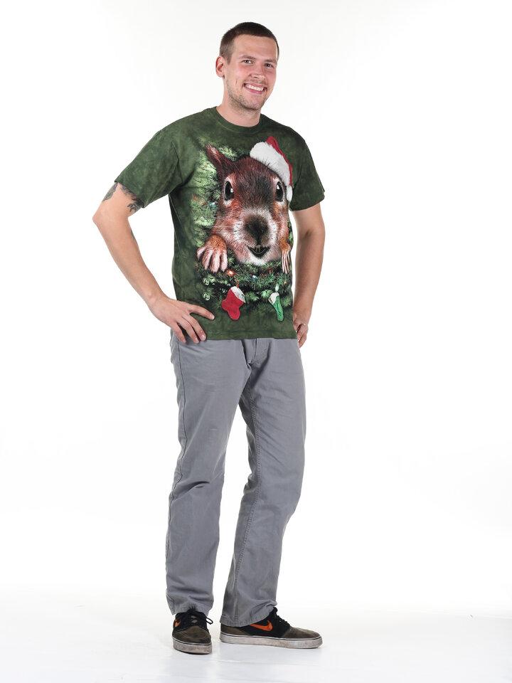 Výjimečný dárek od Dedoles Tričko Vánoční veverka