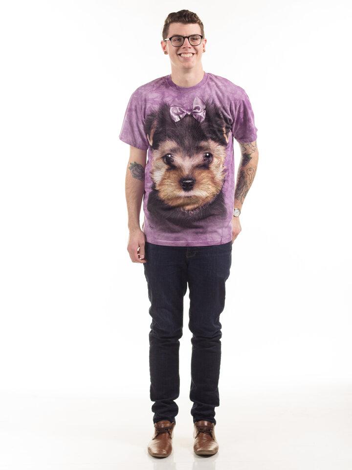 für ein vollkommenes und originelles Outfit T-Shirt Yorkshire Terrier Welpe