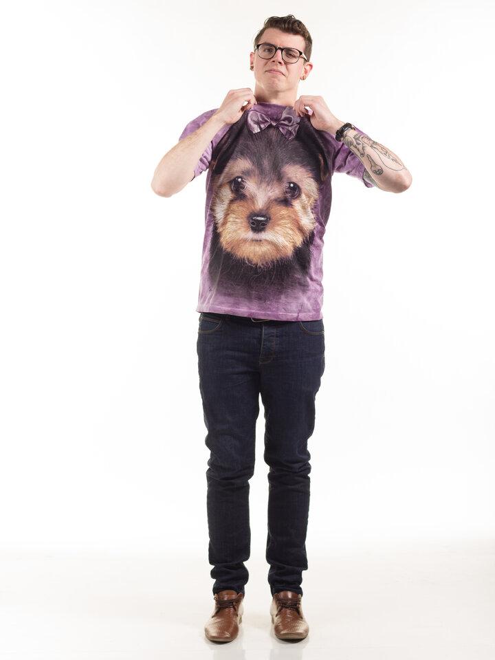 Suchen Sie ein originelles und außergewöhliches Geschenk? überrascht den Beschenkten sicher T-Shirt Yorkshire Terrier Welpe
