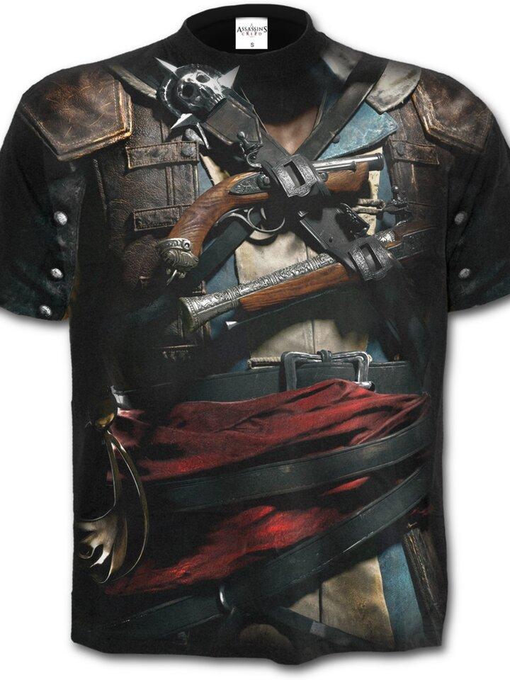 Výprodej Tričko s motivem Assassins Creed Black Flag