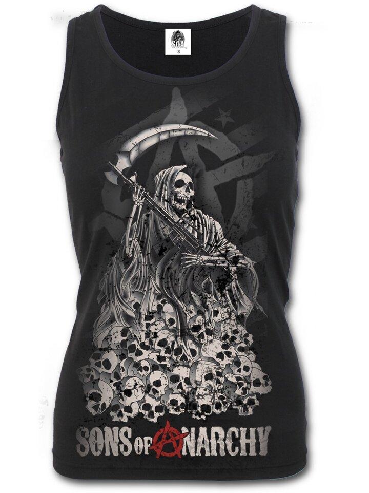 Tip na dárek Dámské tílko s motivem Sons of Anarchy Reaper skulls