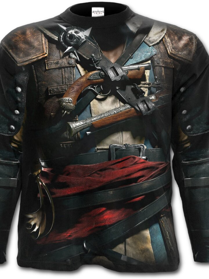 Foto Langärmliges T-Shirt mit dem Motiv Assassins Creed Black Flag