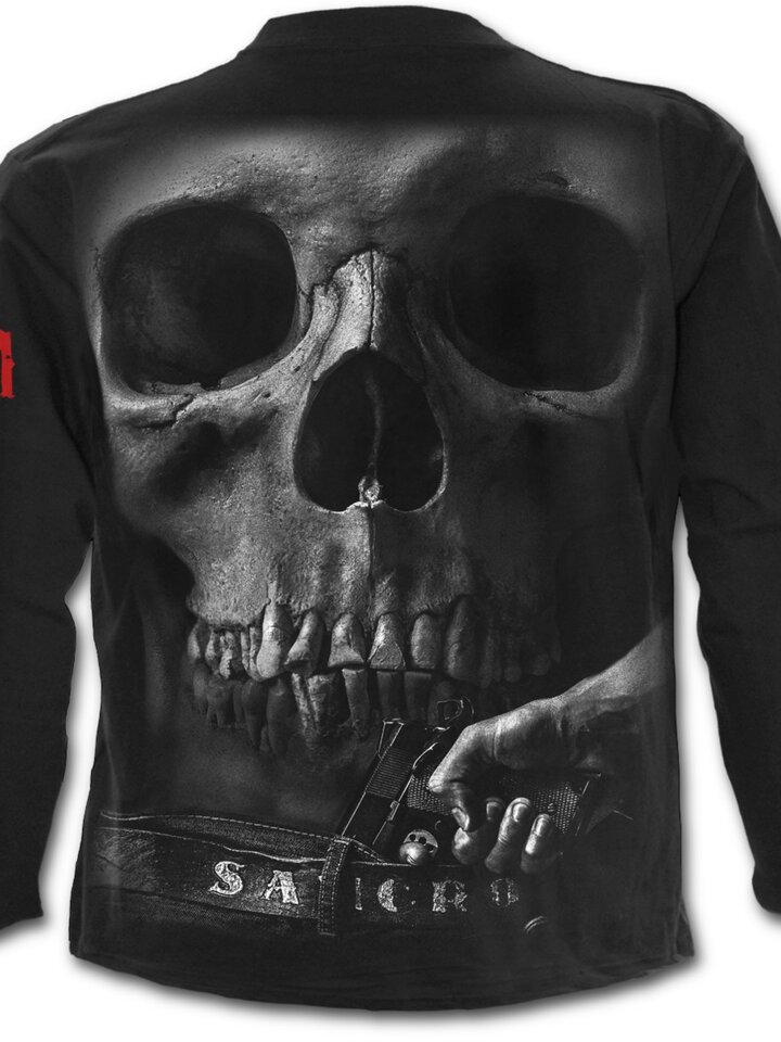 Pomysły na prezenty Long Sleeve with design Sons of Anarchy Half Skull