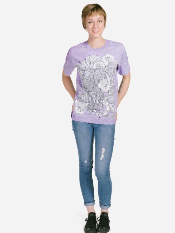 Tip na darček Mandala vyfarbovacie tričko Slobodný slon