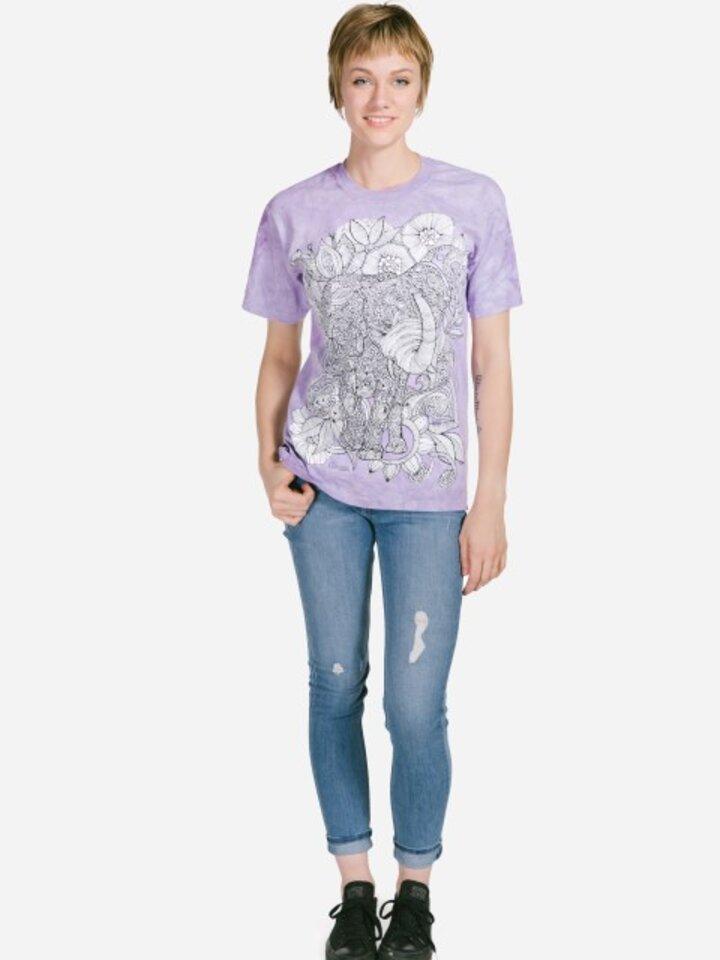 Obrázok produktu Mandala vyfarbovacie tričko Slobodný slon