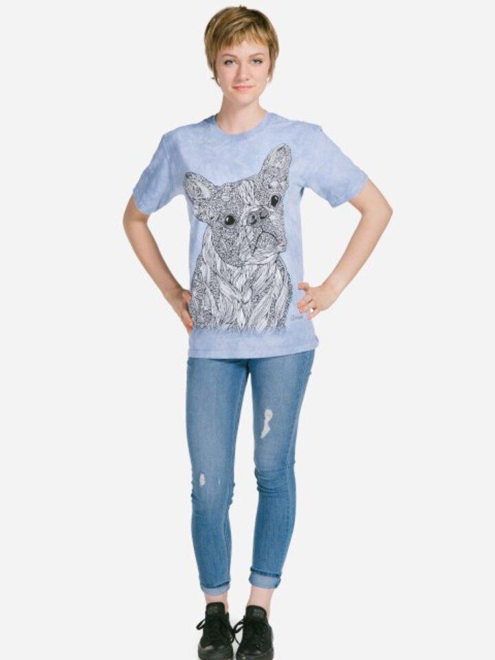 Lifestyle foto Mandala vyfarbovacie tričko Verný pes