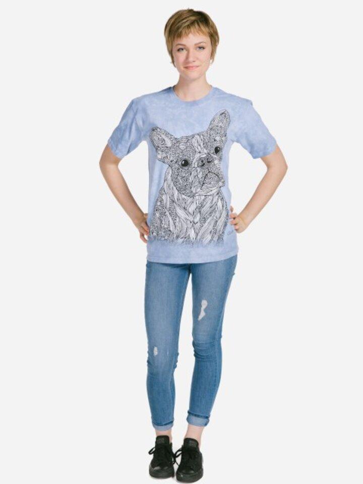 Výnimočný darček od Dedoles Mandala vyfarbovacie tričko Verný pes