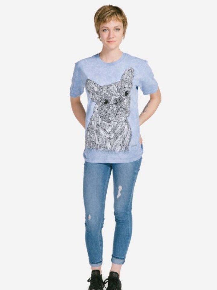 Tip na darček Mandala vyfarbovacie tričko Verný pes
