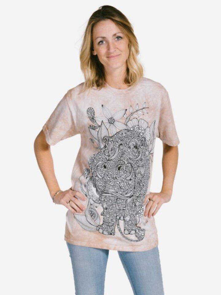 Foto Mandala vybarvovací tričko Hroch