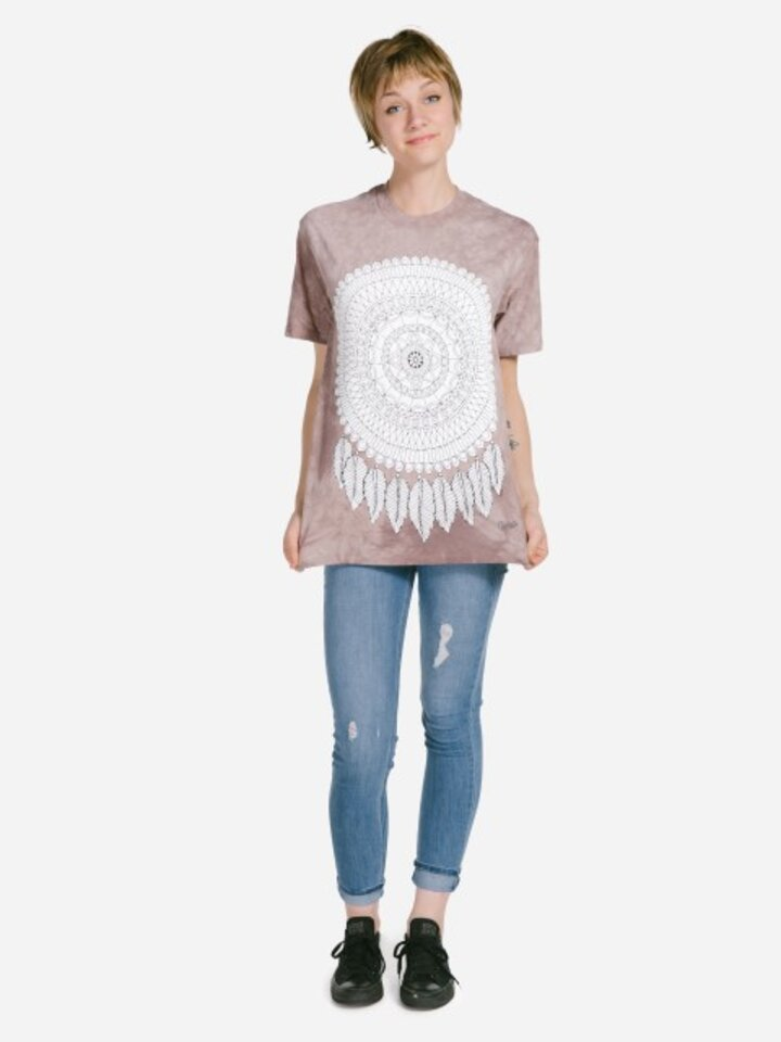 Sale Mandala Colouring T-shirt Dreamcatcher