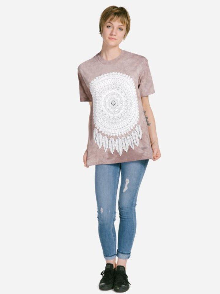 Pre dokonalý a originálny outfit Mandala Colouring T-shirt Dreamcatcher