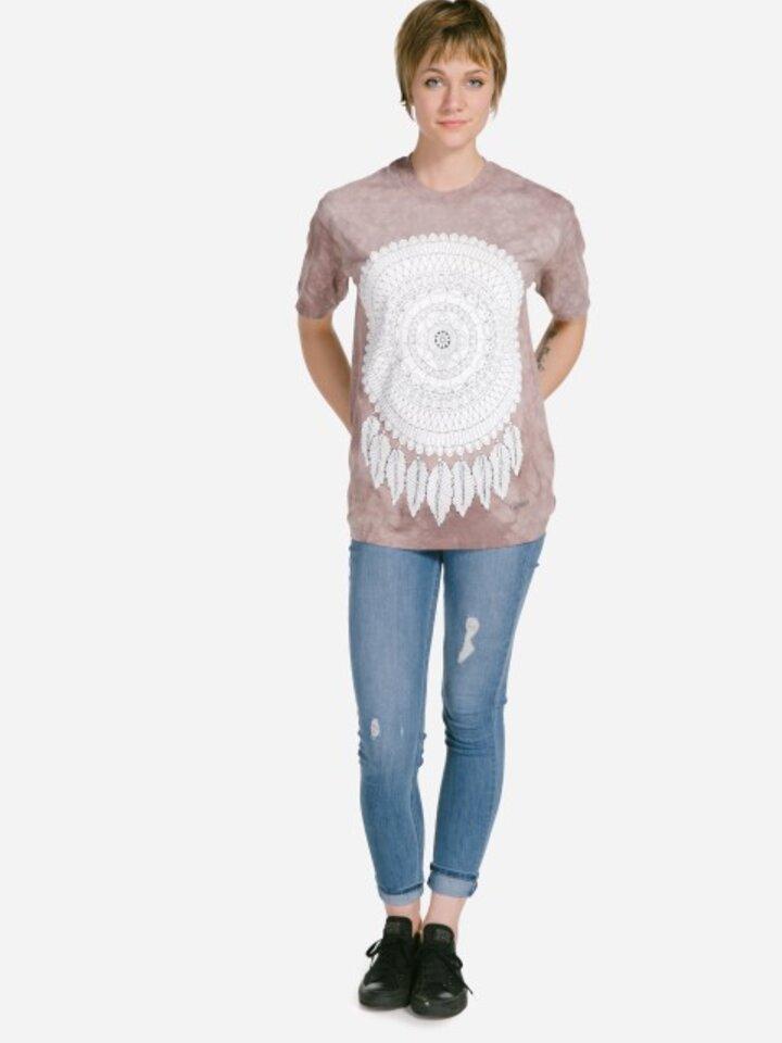 Potešte sa týmto kúskom Dedoles Mandala Colouring T-shirt Dreamcatcher