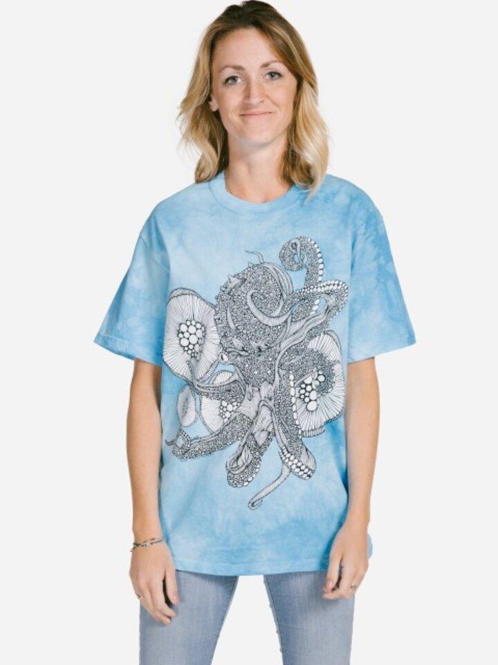 Sale Mandala Colouring T-shirt Octopus