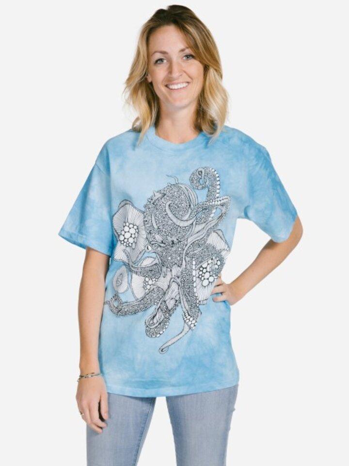 pro dokonalý a originální outfit Mandala vybarvovací tričko Octopus