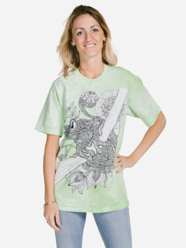 Sale Mandala Colouring T-shirt Frog
