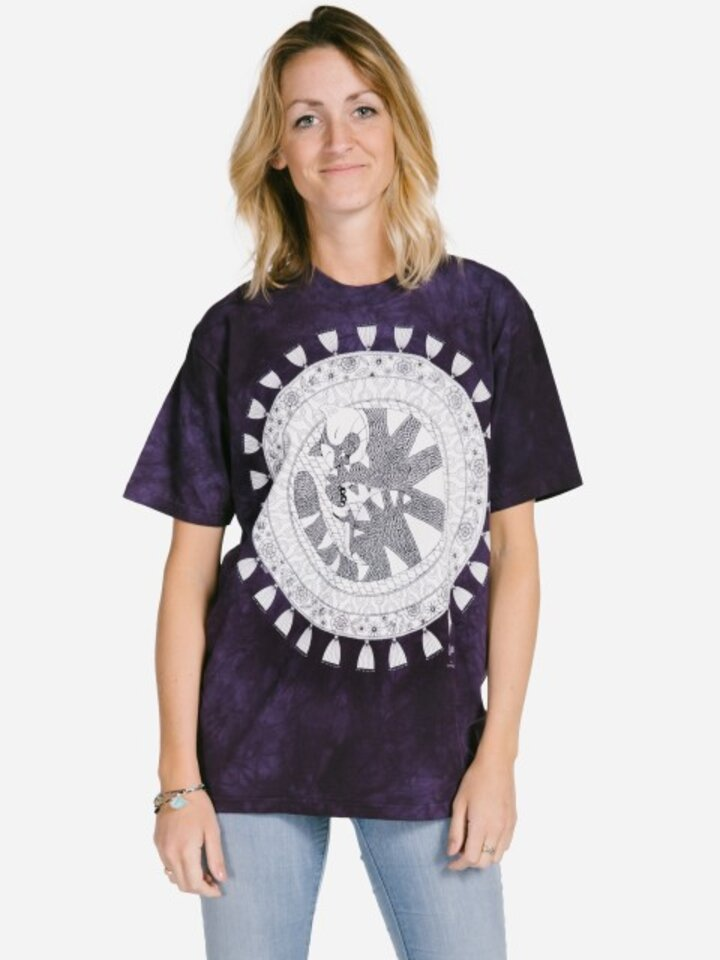 Sale Mandala Colouring T-shirt Sleeping Cat