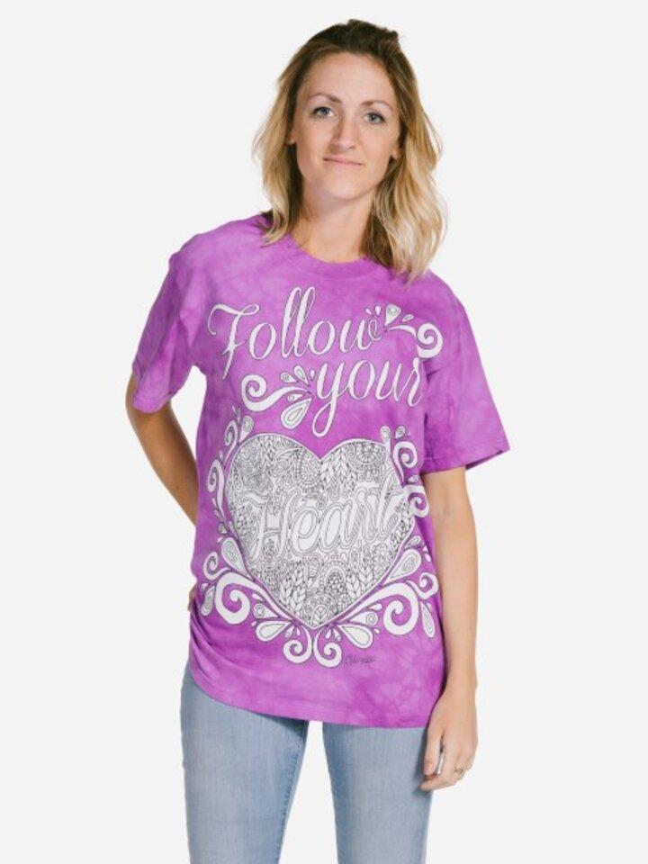Foto Mandala vybarvovací tričko Následuj své srdce