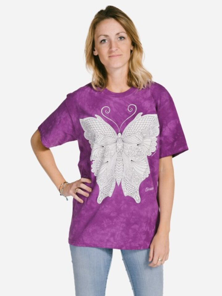 Gift idea Mandala Colouring T-shirt Butterfly