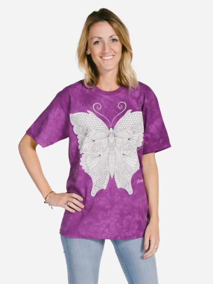 Obrázok produktu Mandala Colouring T-shirt Butterfly