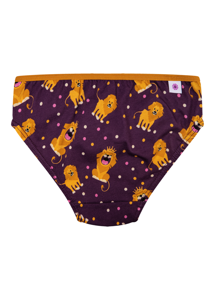 Pre dokonalý a originálny outfit Girls' Briefs King of the Jungle