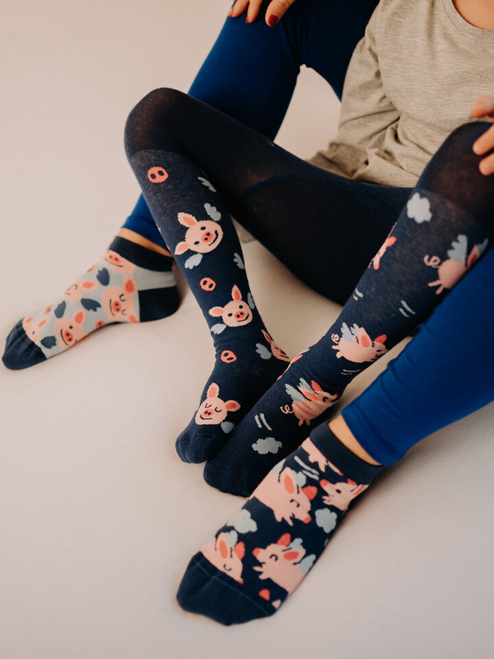 Sale Kids' Tights Flying Pigs