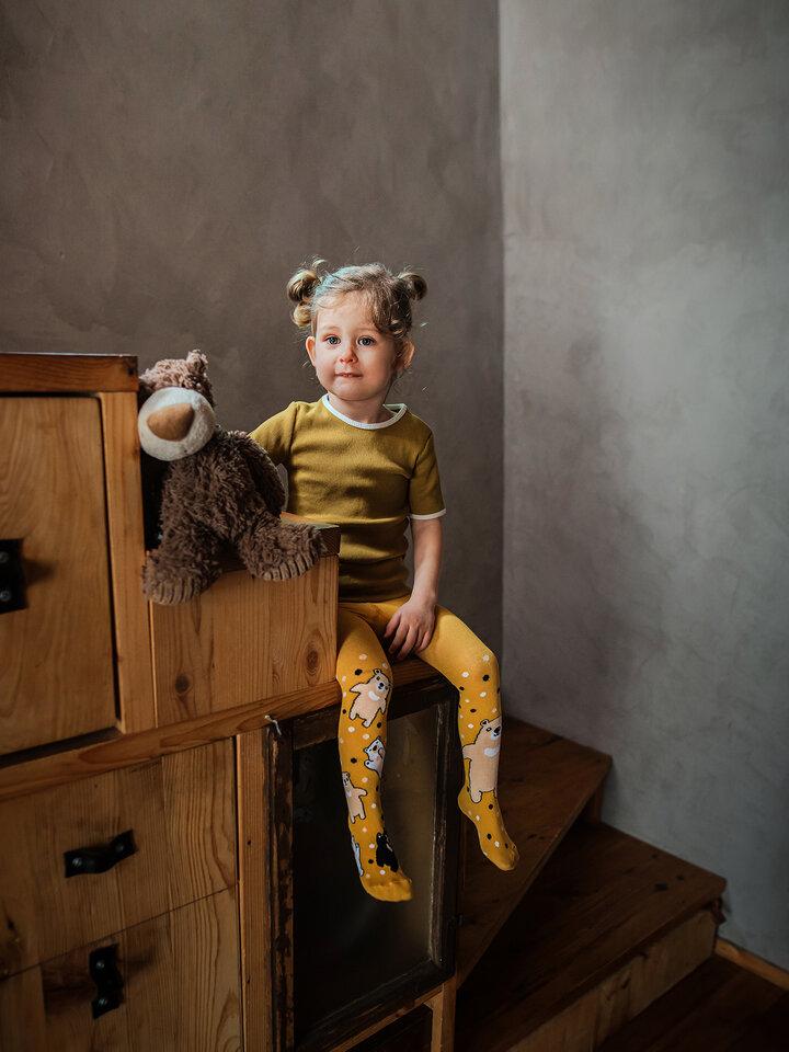 Tip na darček Collants rigolos pour enfants - Ours en peluche