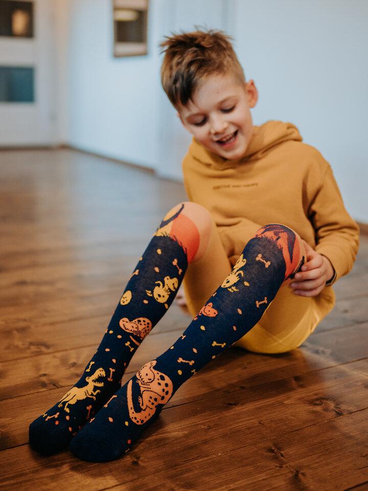 Tip na darček Živahne otroške hlačne nogavice Svet dinozavrov